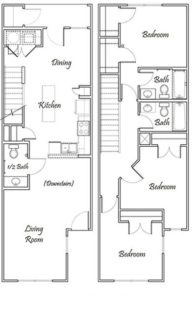 2 Bedroom Bi Level Home With Open Living: Pavilion At Samuels
